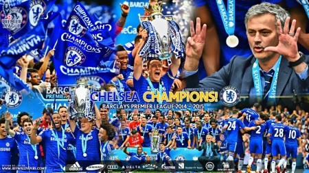 Chelsea Champions Barclays Premier League 2015 Football Sports