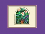 Hibiscus_ Stained Glass Window