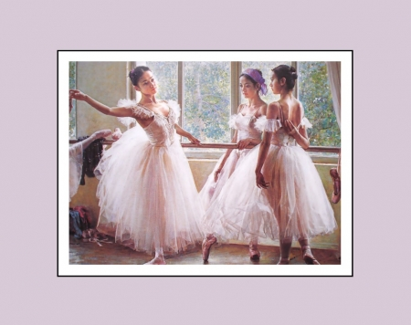 Ballet Dancers - dancers, soft, wallpaper, painting, ballet, feminine, beauty, ballerinas, pink