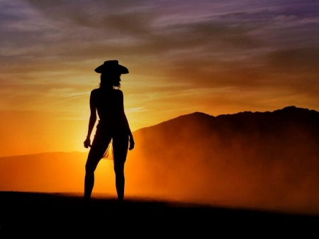 cowgirl silhouett wallpaper - photo #21