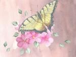 Watercolor Butterfly Sakura