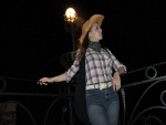 Cowgirl At Night