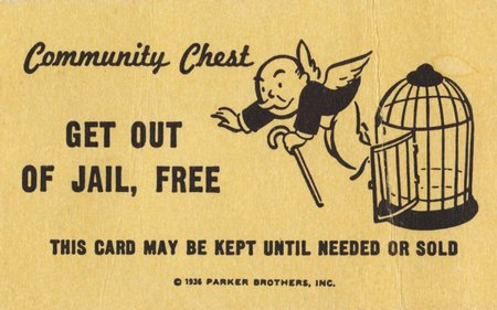 Get out of Jail Free for the Win - board game, monopoly, jail