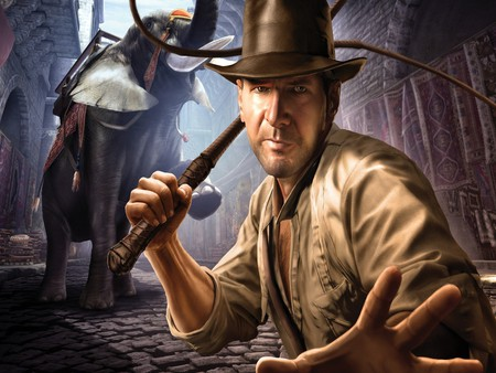Indiana (Indy) Jones - painting, harrison ford, painted, indiana jones