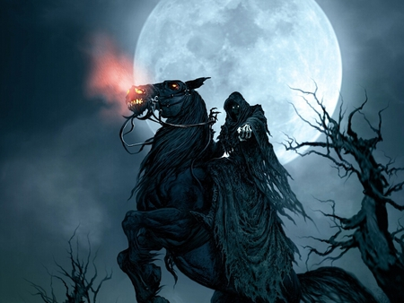 death with the horse - Fantasy & Abstract Background Wallpapers on ...