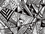 Black And White Doodling