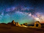 Milkyway over Arches Nat'l. Park, Utah