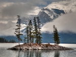 Island in the Rocky Mountains, BC