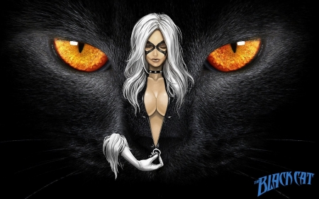 Black Cat - marvel, supervillain, black cat, black, superhero, cat, felicia hardy, sexy