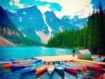 Moraine Lake in Alberta - Canada