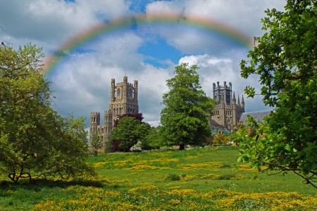Cherry Hill Park, Ely - Building, Rainbow, Landscape, Cathedral