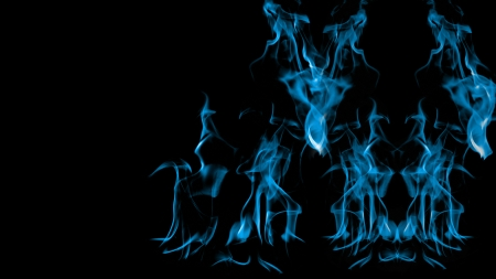 Blue Fire - blue flames, fireplace, fire, flames, Blue Fire, blue
