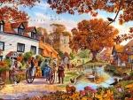 Village In Autumn