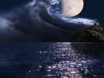 Waves on the full moon...