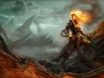 Fire Mage In The Wasteland