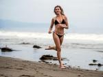 Bikini Model Jogging on Malibu Beach