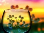 Little Flowers in Glass