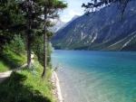 Beautiful footpath by the lake