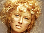 Golden make-up