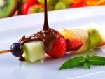 Strawberry, kiwi, chocolate