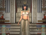Egyptian Woman wearing Isis Headress