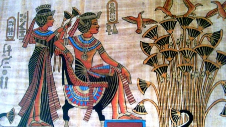 king_tut_and_Ankhseamun - tomb, Tut, King, Egypt, painting