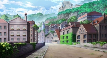 Anime Village And Catle