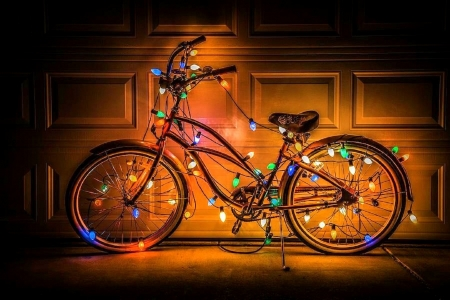 ..Glow Bike.. - lovely still life, bulbs, still life, chic, glow, lovely, love four seasons, bike