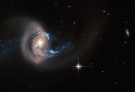 Galaxy NGC 7714 After Collision - stars, cool, space, fun, galaxy