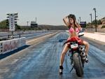 Bikini Model Tanya on a Ducati