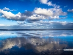 Brancaster beach reflection