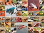 Collage of Fishing Flies