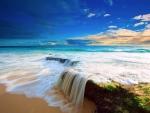 Seaside Little Waterfall