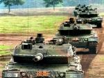Geleit der Leopard 2/ Convoy of Leopard 2's