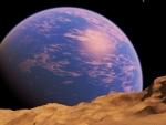 Blue planet rising