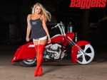 Red Boots Bike Chick