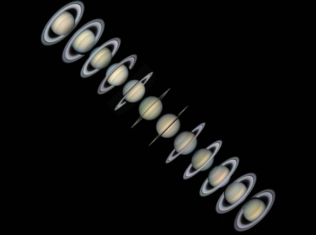 Rings and Seasons of Saturn - cool, planet, space, fun, saturn