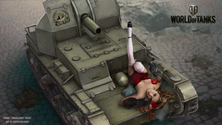 Girls In World Of Tanks Other Video Games Background