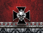 Red Skull Cross emblem
