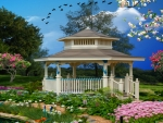 ~*~ Gazebo In The Garden ~*~
