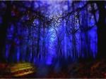 Bosque en azul