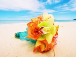 Bouquet on Beach