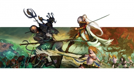 Elves Vs Skaven 3d And Cg Abstract Background Wallpapers