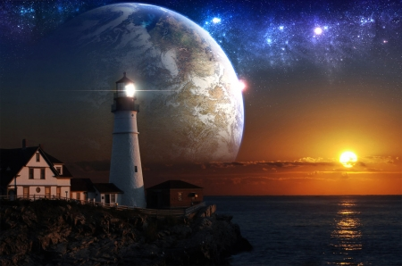 Fantasy Lighthouse - Fantasy & Abstract Background