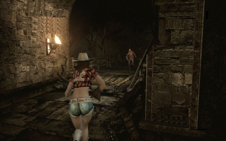 Sneaky Cowgirl - female, models, hats, video game, fun, outlaw, women, guns, cowgirls, girls, western, style