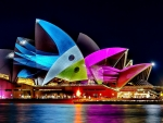 Nightscape of Sydney Opera House, Australia