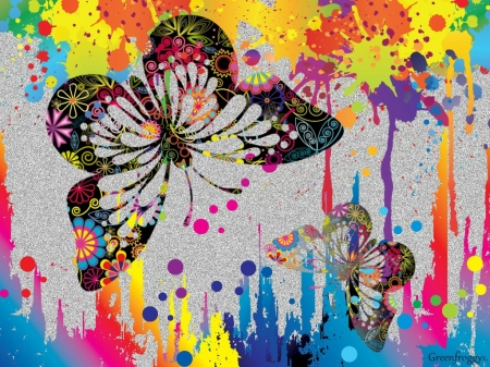 SPLASHES OF COLOUR WITH BUTTERFLIES