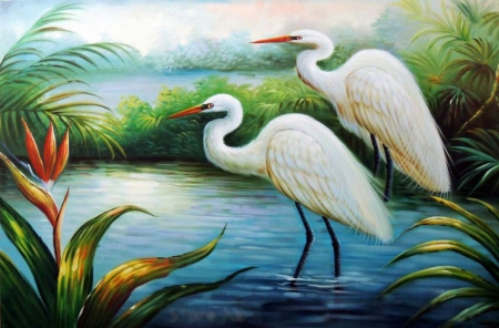 White Heron Egret Bird Of Paradise jpg - Other & Abstract