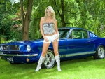 Natalia Forrest and a Classic Mustang Fastback