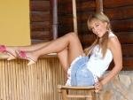 Blonde Model Leila
